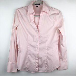 Express Design Studio Button Down Top Light Pink